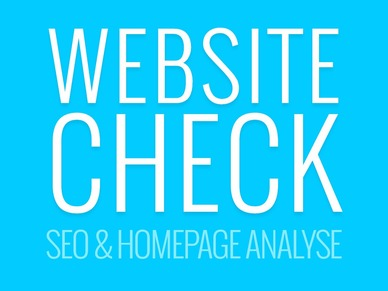 Angebotsbild von Website Check - SEO & Homepage Analyse